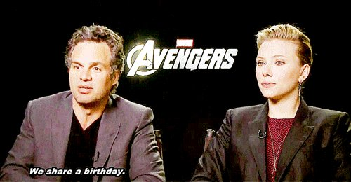 Happy Birthday to the two amazing and lovely human beings and Scarlett Johansson!