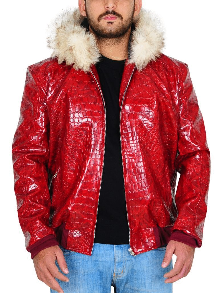 Trendhoop Men's Fur Hoodie Red Crocodile Pattern Leather Jacket Now Available in our Store. https://amzn.to/2QfUZ9A #Clothing #Collection #Fashion #Style #Outfit #CrocodileJacket #FurHoodieJacket #LeatherJacket #HotJacketpic.twitter.com/G5Rr9AHikN