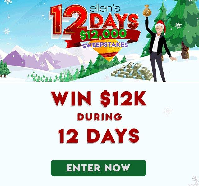 One lucky Ellen Shop shopper is gonna be $12,000 richer! That's a lot of underwear. ellenshop.com/pages/12K