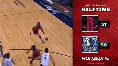 Halftime in Dallas. #RunAsOne 🚀