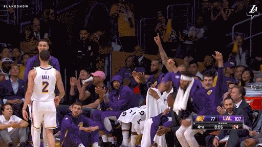 When your boy scores his first points in the league: JaVale and Tyson losing it for @moritz_weasley!