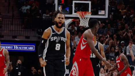 Patty. Mills. Spurs lead 124-108 with 4:03 to go!
