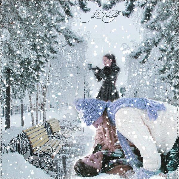 А снег идет картинка гиф