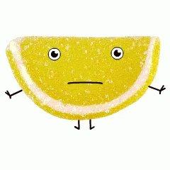 Летием девочке, гифка лимона