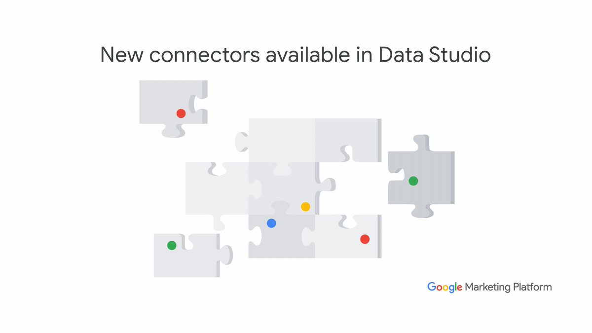 New from @GMktgPlatform: Data Studio connectors for Display & Video 360 and Search Ads 360. Go get 'em. #measure