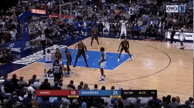 Barea missed the shot, but this vision/pass from Luka was incredible