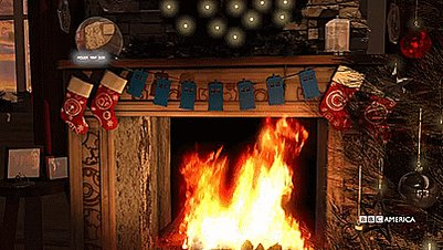 Yes, this is a Dr. Who-themed Yule Log video.  Yes, your holiday party needs this: https://youtu.be/hLwpkN-iRNI.