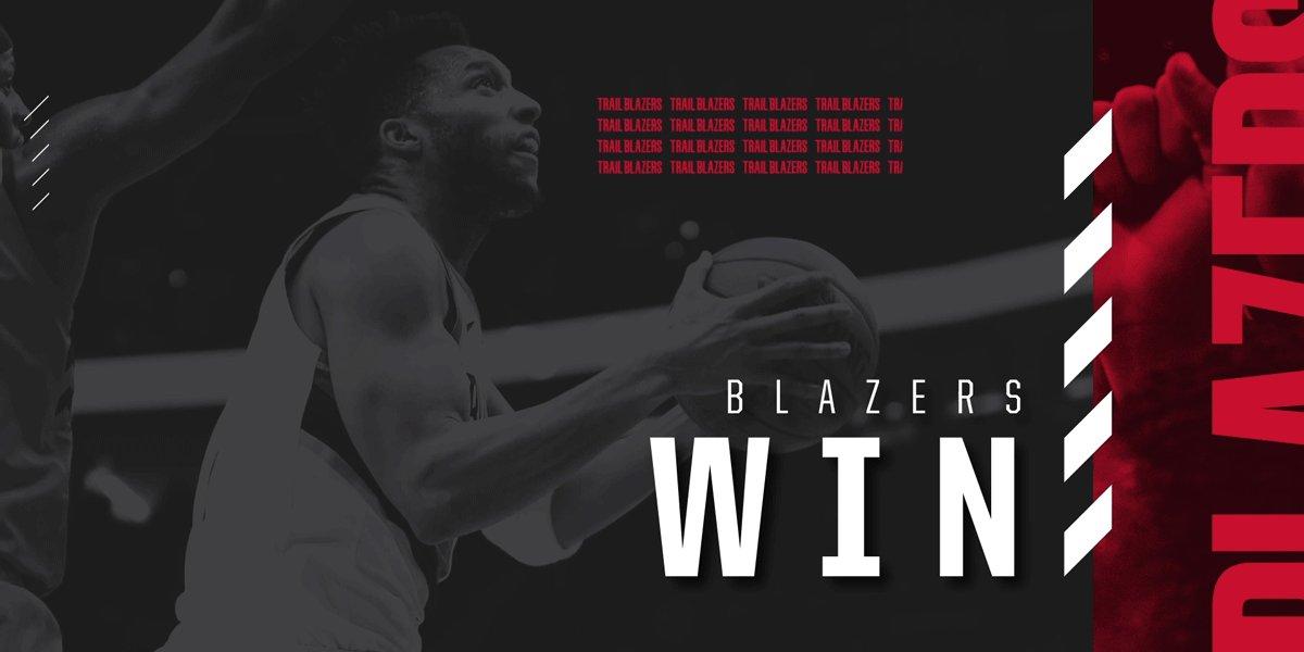BLAZERS WIN! BLAZERS WIN!