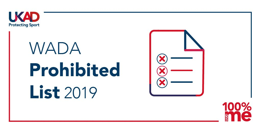 Image for the Tweet beginning: 📣 The WADA Prohibited List