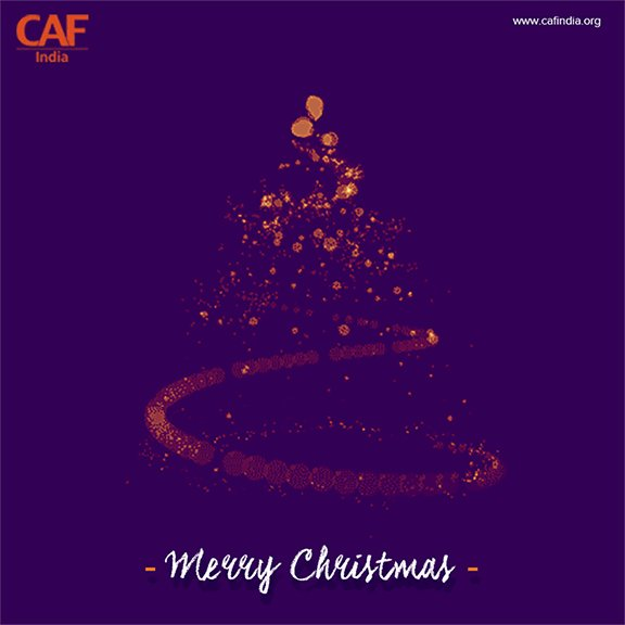 CAF India wishes you a Merry Christmas and a Happy New Year! #merrychristams #christmasspirit #joyofgiving #Give4Good #christmascheer