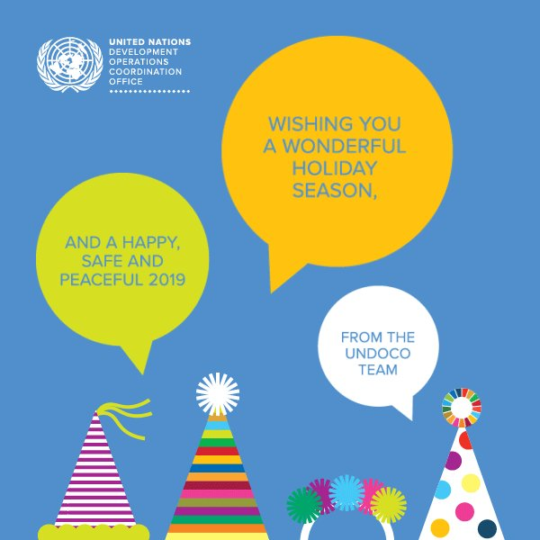 All the very best for the holiday season and a fantastic #NewYear from the UN Development Operations & Coordination Office! 🎉🎉🥳