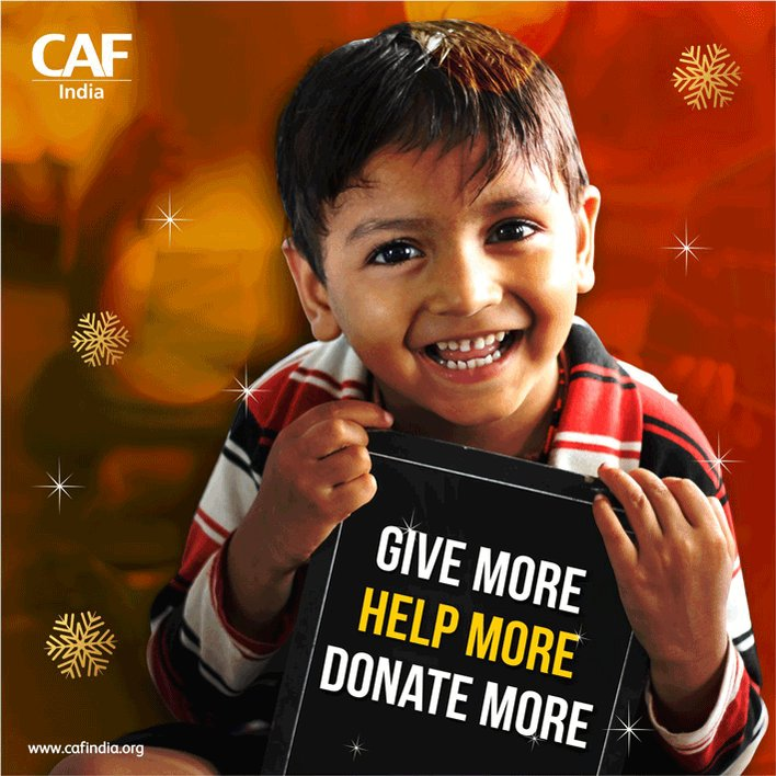 #Give More. #Help More. #Donate More. Let's make #giving count in 2019. CAF India wishes you a very #HappyNewYear2019!