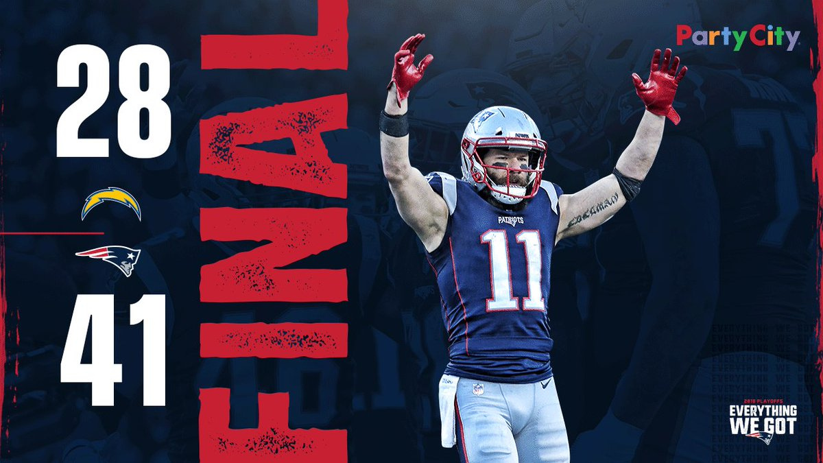On to the AFC Championship Game.  #EVERYTHINGWEGOT