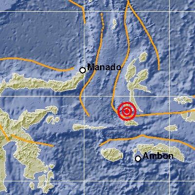 Gempa di Maluku Utara Sabtu pagi 5 Januari 2019 jam 08.55 WIB berskala 5,1 SR.