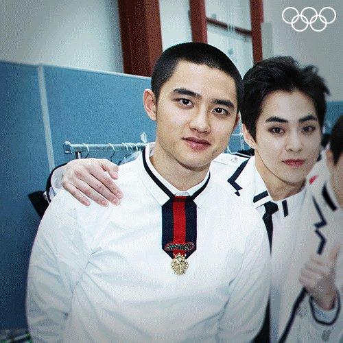 Happy birthday #DO(D.O.) #도경수 @weareoneEXO! 🎂🎤 #EXO #엑소 @PyeongChang2018 #Olympics