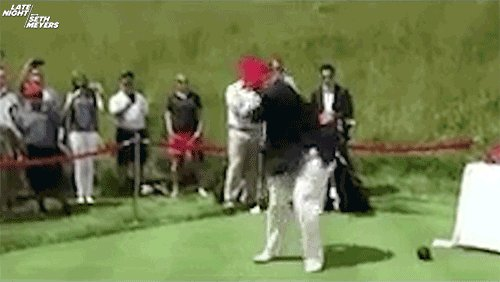 OMG! He thinks he scored, but all he did was show the world how awful he is in being human. Can someone tell him because of the government shutdown, he can't go on golfing trips anymore?