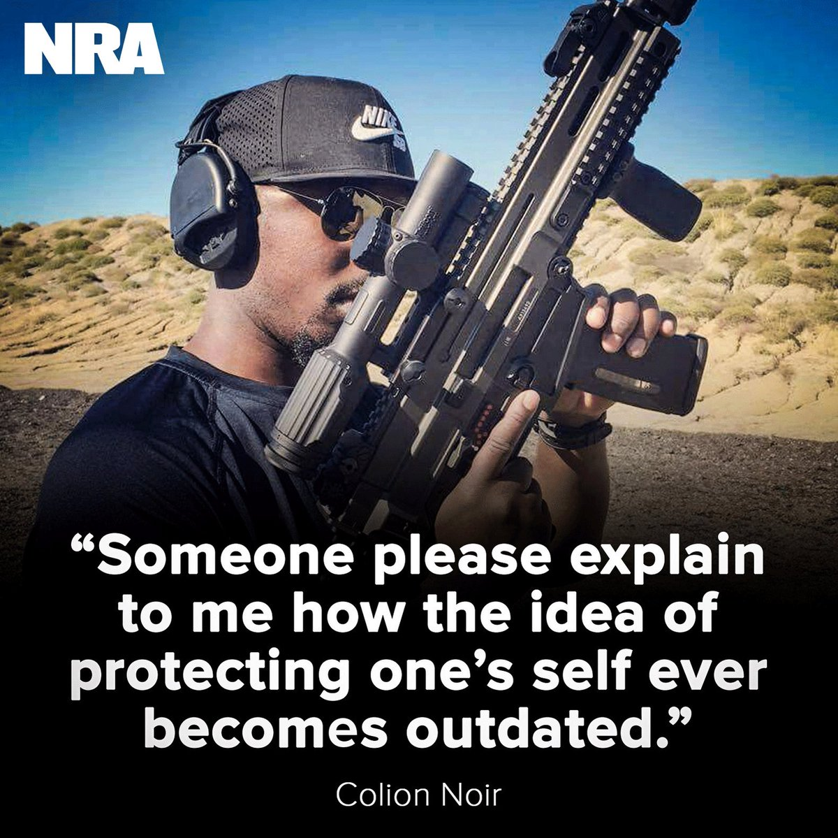 Your right to self-defense is never outdated. @MrColionNoir