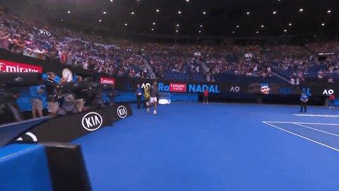 Rafa's back in the ring 🥊.  #AusOpen