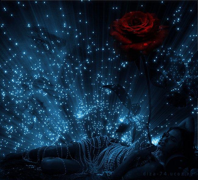 Красивая ночь анимация