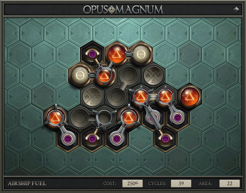 Loren Schmidt On Twitter Opus Magnum Scratches Such An Itch For Me It Starts As Innocent Problem Solving And Then By Way Of Optimization It Draws You Down This Strange Beautiful Descent