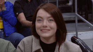 👋 Emma Stone courtside for @LAClippers/@warriors at Staples Center! #NBACelebRow