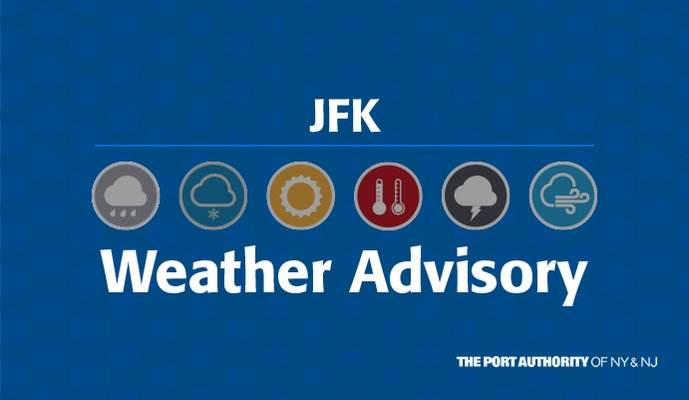 Image for the Tweet beginning: #JFK Winter Storm Update: Cancellation
