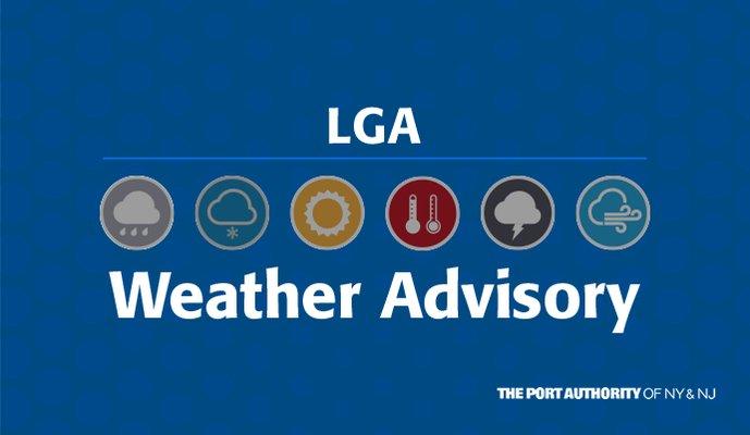 Image for the Tweet beginning: #LGA Winter Storm Update: Remaining