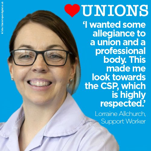 Chartered Society of Physiotherapy's photo on #HeartUnions