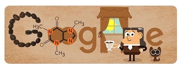 On what would be his 225th birthday, today's #GoogleDoodle celebrates German analytical chemist Friedlieb Ferdinand Runge, who isolated the ingredient we know today as caffeine → http://goo.gl/2vX2Rc