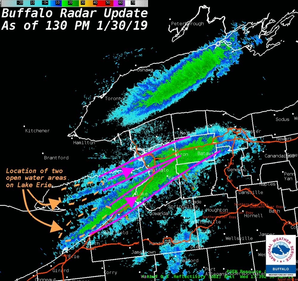 Nws Buffalo On Twitter Radar Update 130 Pm 1 30 While Much Of