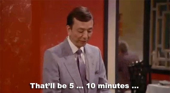 "Seinfeldism on Twitter: ""That'll be 5... 10... minutes. #Seinfeld… """