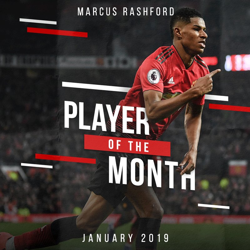 😁 @MarcusRashford is:  Red ✔️ Manc born and bred ✔️ Our latest #MUFC Player of the Month ✔️