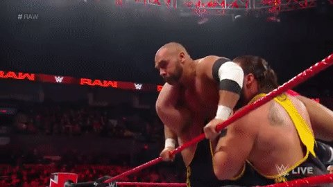 What are @WWEDozovic & @TuckerKnightWWE doing right now?  CLEANING HOUSE, that's what! #RAW