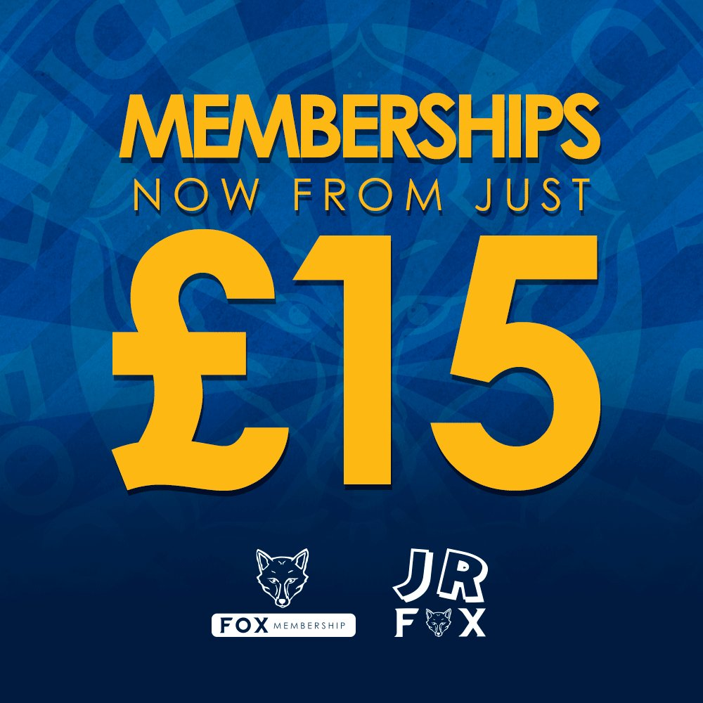 Further, final reductions on 2018/19 Fox Memberships for the Blue Army! 🔵  👉 https://www.lcfc.com/news/1054828/further-fox-membership-reductions-25-per-cent-off-201819-home-shirt-when-signing-up…