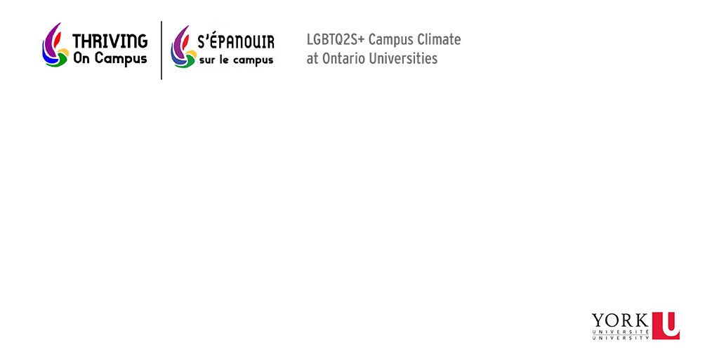 """Are you a York student that identifies as LGBTQ2S+? Participate in the first Ontario-wide """"Thriving on Campus? LGBTQ2S+ Campus Climate at Ontario Universities"""" survey aiming to shape policies, programs and services tailored to student needs: http://go.yorku.ca/thriving-on-campus…."""