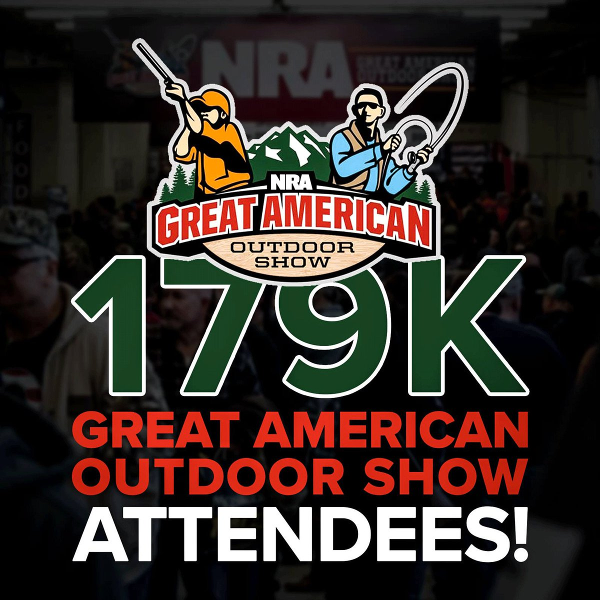 """""""A record 179,000 people visited the #NRA's 6th annual Great American Outdoor Show (#GAOS2019) Feb. 2-10 at the Pennsylvania Farm Show Complex and Expo Center in #Harrisburg."""" For more, visit → http://bit.ly/GAOSRecord @NRA_GAOS"""