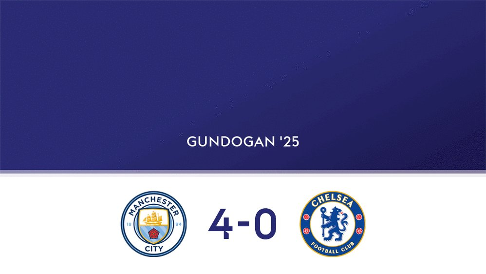 GOAL!  @ManCity 4-0 @ChelseaFC  Watch the @premierleague clash live on Sky Sports Premier League or follow online now: http://skysports.tv/eXIcau