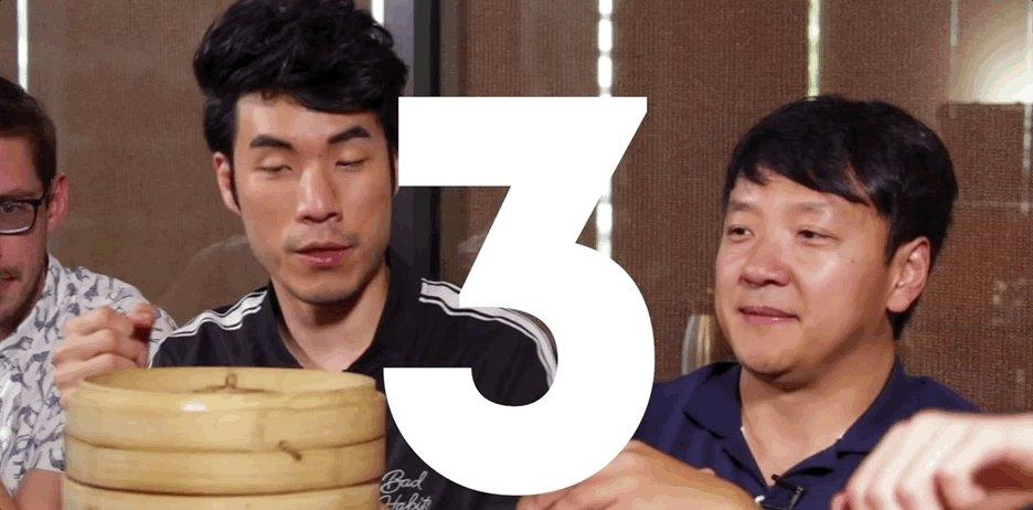 We're full just watching this.   Watch the @tryguys eat their weight in dumplings.  → https://goo.gl/aQrbJ6
