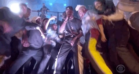 """We hope this #vibe never ends because @trvisXX has us too hyped with his performance of """"No Bystanders."""" #GRAMMYs"""