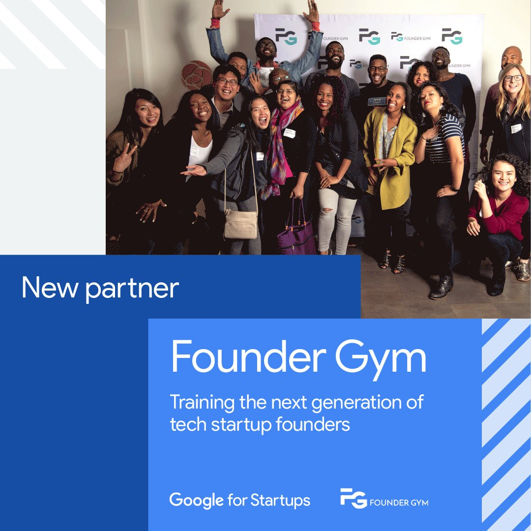 Live from #SGGlobal, we're thrilled to officially welcome @FounderGym to the Google for Startups partner network! @FounderGym's unique programs empower underrepresented founders to secure funding to scale their startups. Learn more: https://goo.gl/RnJXN2  #DreamItBuildIt