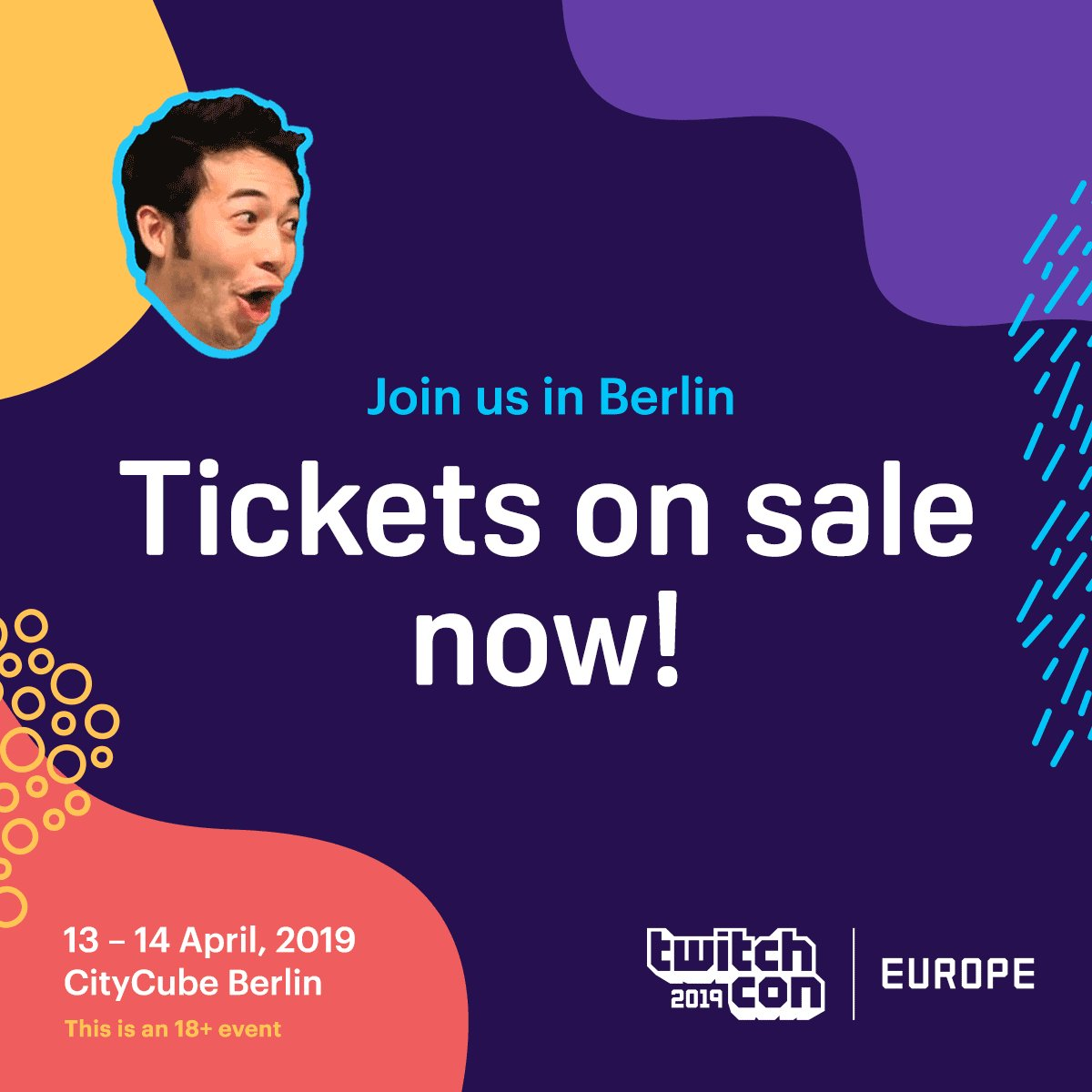 The wait is over. If you're a part of Twitch, you're officially invited to be a part of the very first TwitchCon Europe. Get your tickets NOW and join us in Berlin: https://buytickets.to/twitchcon