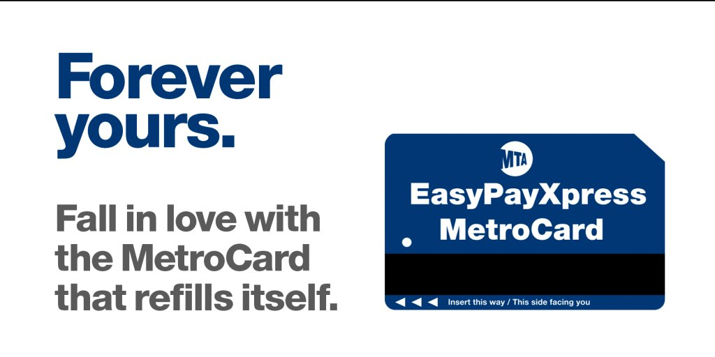 Nyct Subway Wear A Mask On Twitter Give Yourself The Sweet Gift Of Convenience This Valentine S Day Sign Up For Easypayxpress The Metrocard That Refills Itself And Never Run Out Of Rides