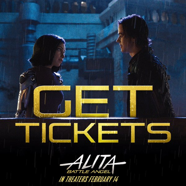 The wait is finally over. It feels almost surreal to say that you can now all see @AlitaMovie at your local joint.   When you see how big a heart Alita has, what she stands for, and how she majorly kicks ass, you're going to fall in love with her the way I have.
