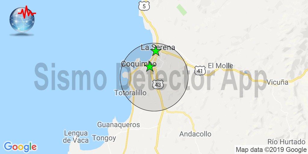 RT @SismoDetector #sismo reportado por los usuarios de la app Sismo Detector a 10km de Coquimbo, Chile. 9 reportes en un radio de 32km. Descarga la app desde https://t.co/Wm1UTe2ZTV para recibir alertas en tiempo real