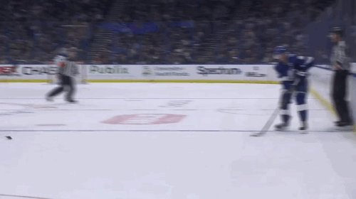Steven Stamkos destroys Andrew Cogliano's ankles and then scores his second of the game
