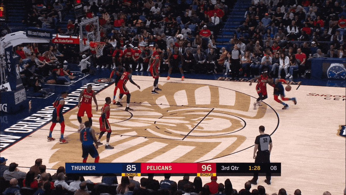 Jrue Holiday put a red-hot Paul George in the freezer: http://deadsp.in/5NzXpA1