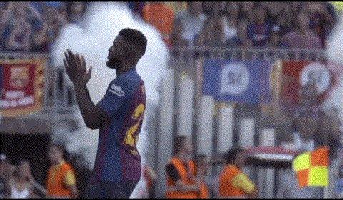 😍 Welcome back to the squad @samumtiti 😍  #OLBarça