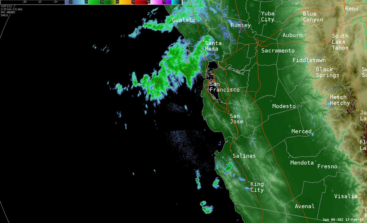 Showers 🌧️are approaching the SF Bay. Periods of rain (snow above 2500 feet) expected overnight, decreasing by Sunday morning. #CAwx