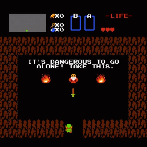 Dangerous To Go Alone Take This GIF
