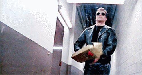 Scene from Terminator 2 whe...